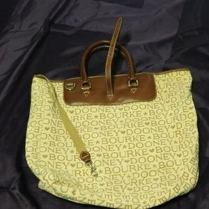 A beautiful authentic Dooney & Bourke tote bag